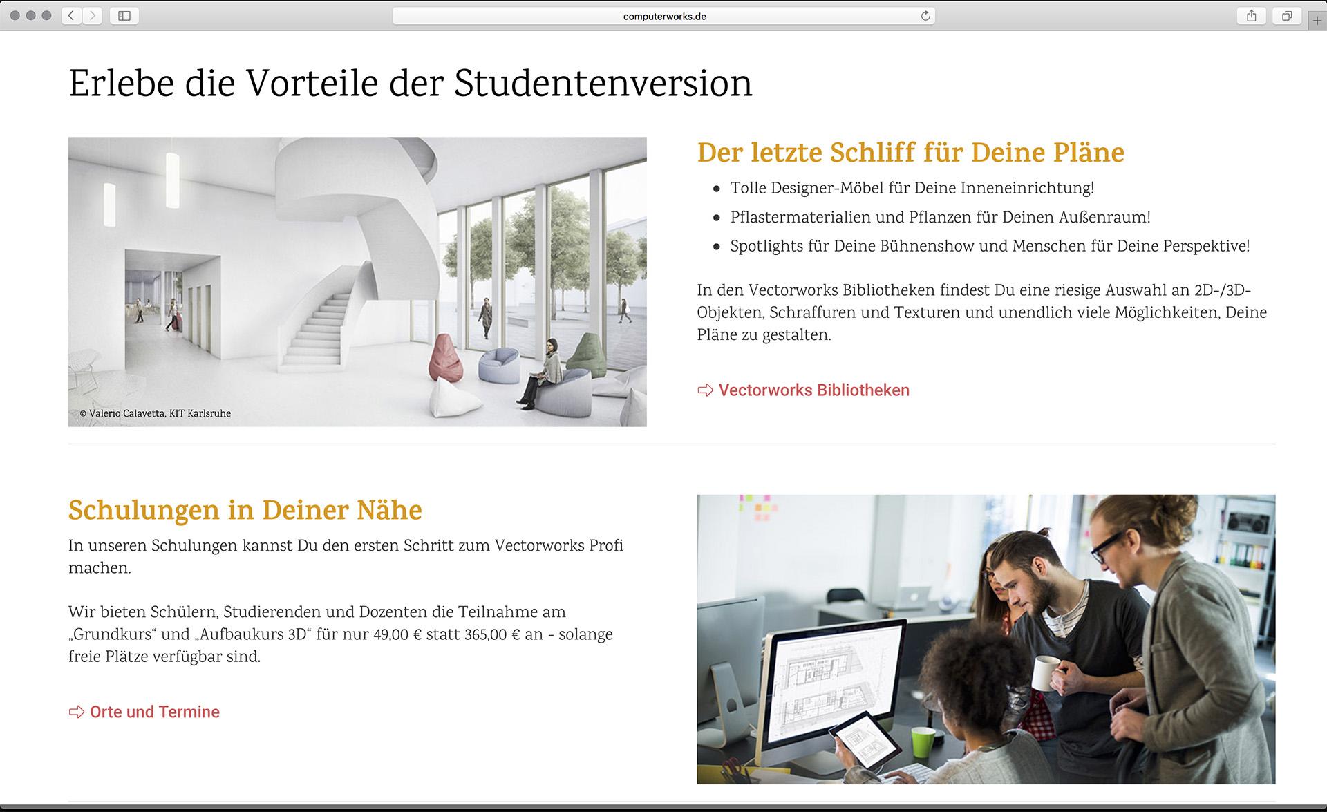 Visualisierungen auf www.computerworks.de