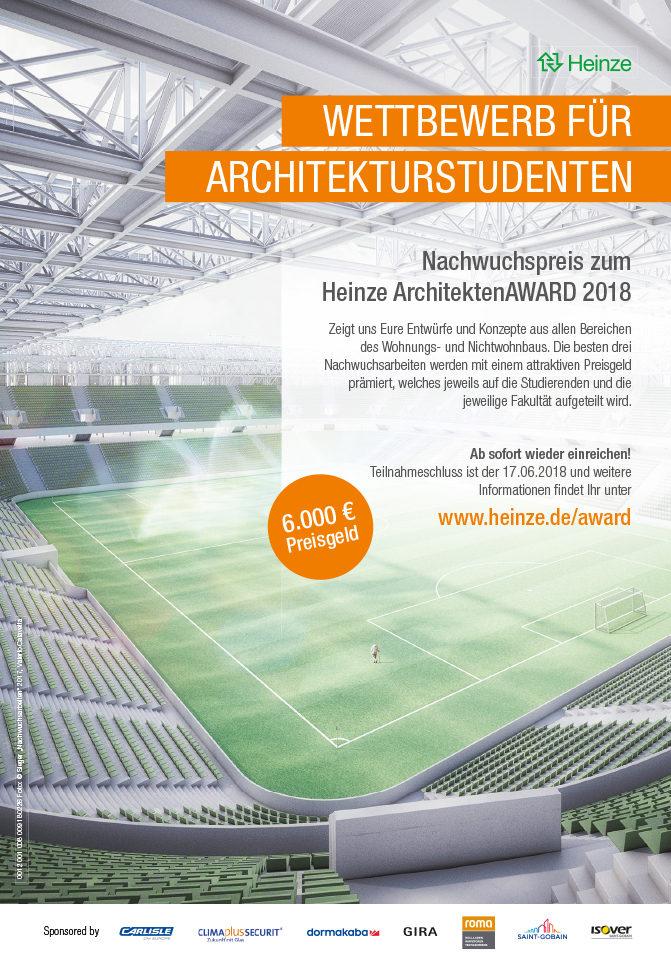 Heinze ArchitektenAWARD 2018 Ausschreibung